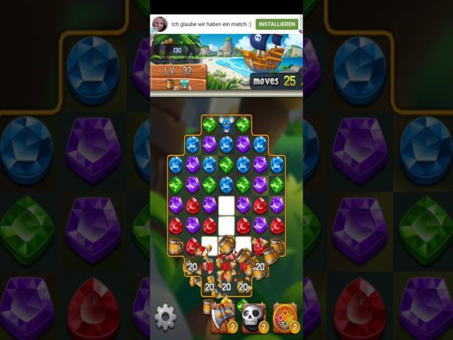 Jewel Chaser 💎 – Jewels & Gems Match 3 Puzzle 2021 Level 32 ⭐⭐⭐ no Booster 👑 Android Gameplay ✅