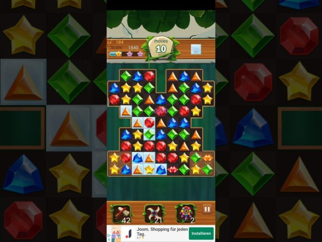 Jewels Jungle 💎 Level 184 ⭐⭐ 2021 – Jewels & Gems Match 3 Puzzle no Booster 👑 Android Gameplay ✅