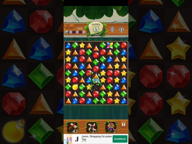 Jewels Jungle 💎 Level 189 ⭐⭐⭐ 2021 – Jewels & Gems Match 3 Puzzle no Booster 👑 Android Gameplay ✅