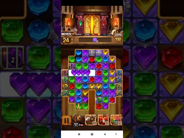 Jewel Legacy 💎 Level 732 ⭐⭐⭐ – Jewels & Gems Match 3 Puzzle 2021 no Booster 👑 Android Gameplay ✅